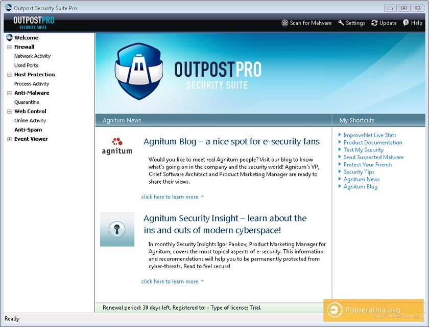 Preemptive threat protection Outpost Security Suite Pro provides the